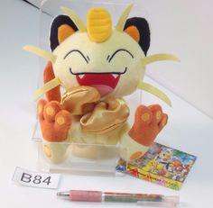 Meowth Mauzi Miaouss Pokemon Center Osaka Plush Doll.with the bonus item #PokemonCenter