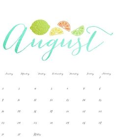 cute august 2018 calendar word template