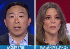 NBC Denies Cutting Mics Despite Claims to the Contrary by Andrew Yang and Marianne Williamson Two Party System, The Daily Caller, Marianne Williamson, Elizabeth Warren, Political News, Shit Happens