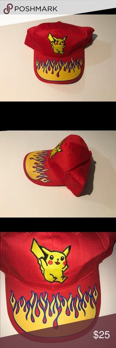 bcd34afa2f9 Pokémon Pikachu SnapBack hat cap ash Ketchum Brand new with tags Pokémon  SnapBack hat. One
