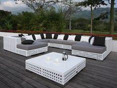 Divano da giardino modulare in Sunbrella® PORTO VECCHIO | Divano da giardino modulare - Sérénité Luxury