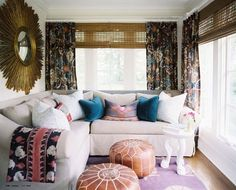 I want this to be my living room. the pattern and texture create such intimate and colorful details.