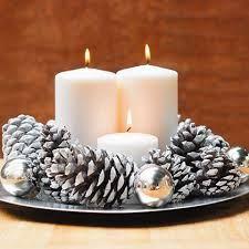 Resultado de imagen de decoracion navideña piñas #chrismas #navidad #navidades