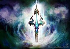 Tridente Poseidon Guerra De Mitos Leoarts Leon by le0arts.deviantart.com on @deviantART