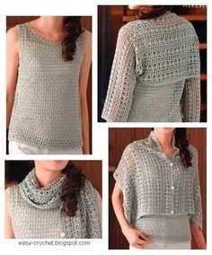 Crochet Shrug - free pattern! I love this versatile concept!