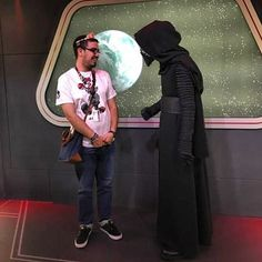 I don't know if I was more nervous meeting Kylo Ren or taking my Psych 311 midterm? Both were equally scary!! #Disneyland #Disneyland60 #StarWarsLaunchBay #KyloRen by dennis_55