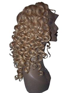 Remi Remy Lace Thin Skin PU Wig Indian Human Hair Blonde Mix Curly Premium  #Unbranded #FullWig