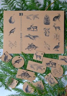 Free downloadable gift tags from Decorator's Notebook 14 designs