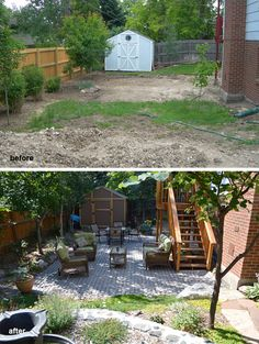 Before and after - One of our landscape renovation designs