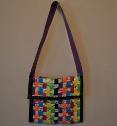 Duct tape messenger bag by RachelsCraftWorld on Etsy, $20.00