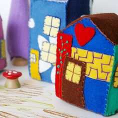 Doll felt house.