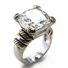 A Perfect Firey 7CT Cushion Cut Solitaire Russian Lab Diamond Engagement Ring