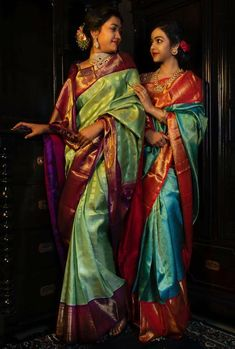 Ideas modern bridal portraits beautiful for 2019 Kanjivaram Sarees Silk, Kanchipuram Saree, Pure Silk Sarees, Indian Bridal Lehenga, Indian Beauty Saree, Indian Sarees, Ethnic Sarees, Pattu Sarees Wedding, Wedding Saree Collection