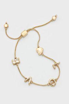 L-O-V-E Bracelet in Gold