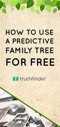 Building your family tree is fast and free with TruthFinder. This guide explains how to get started and build an online and shareable family tree! Bible Family Tree, Create A Family Tree, Family Tree Maker, Free Family Tree, Family Trees, Genealogy Forms, Family Genealogy, Genealogy Websites, Family Tree Generator