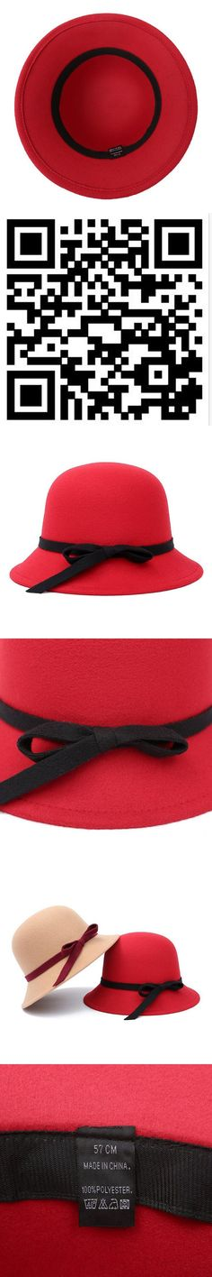 50d4246e5370c NEW Fall Winter Women s Fedora Caps Vintage Sun Hats For Woman Ladies Wide  Brim Wool Felt Bowknot Cloche Chapeu Hat For Women  FeltHatsForWomen