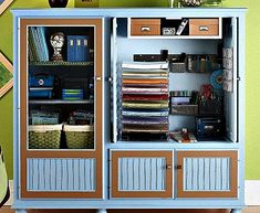 The Domestic Curator: REINVENT, REPURPOSE & RECYCLE: Entertainment Centers