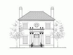 Eplans Adam - Federal House Plan - Three Bedroom Adam - Federal - 2617 Square Feet and 3 Bedrooms from Eplans - House Plan Code HWEPL72703