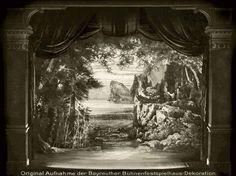 """ Götterdämmerung "" 3.Aufzug 1.Bild  1896 Bühnenphoto ca.1905"