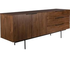 Credenza retrò con impiallacciatura di noce Travis di Zuiver in vendita online ✓consegna gratis da €30 ✓reso facile ▷Scopri le offerte online Side Board, Retro Sideboard, Muuto, Console, Estilo Retro, Bar Areas, Walnut Veneer, Retro Design, Lounge