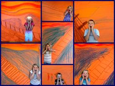 Recreate Munch's The Scream With Your Kids - Layers of Learning