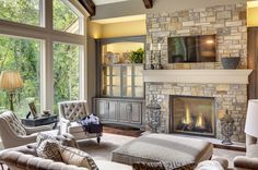 Best Selling House Plans & Top Home Designs & Floorplans by THD Fireplace Doors, Fireplace Ideas, Mantel Ideas, Mantle, Home Living Room, Living Room Decor, Living Spaces, Kitchen Hearth Room, Home Music Rooms