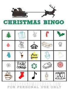 Holiday entertaining tips + free printable Christmas BINGO (4 sets- color & bnw)