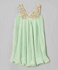 This Green Sequin Yoke Dress - Toddler & Girls is perfect! #zulilyfinds