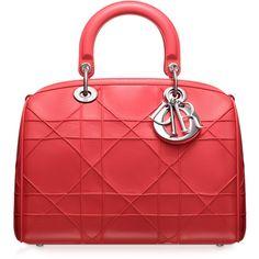 DIOR GRANVILLE Borsa 'Dior Granville' pelle nera ❤ liked on Polyvore featuring bags, handbags, dior, red bag, red hand bags, purse bag, hand-bag and red purse