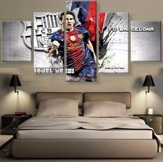 FC Barcelona Canvas Prints 5 Pieces Painting Wall Art