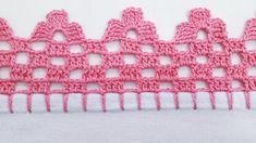 Crochet Border Patterns, Crochet Boarders, Heart Patterns, Crochet Stitches, Crochet Videos, Crochet Home, Crochet Flowers, Embroidery Designs, Crochet Necklace