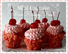Mini Cupcake Rice Krispy Treat