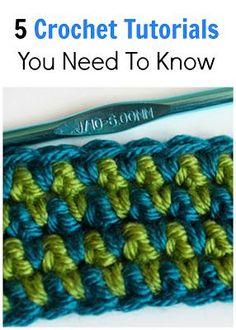 5 Crochet Tutorials You Need To Know Crochet Stitches Patterns, Crochet Chart, Crochet Basics, Knit Or Crochet, Learn To Crochet, Crochet Motif, Crochet Designs, Crochet Instructions, Crochet Tutorials