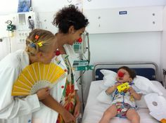 Ibtissama Clown Doctors cheering up #children in #hospitals