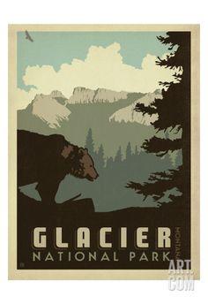 Glacier National Park Art Print by Anderson Design Group at Art.com