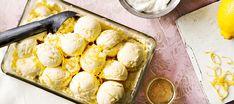 Rahkajäätelö   Jälkiruoat   Reseptit – K-Ruoka Tasty, Yummy Food, Candy Cookies, Ice Ice Baby, Sorbet, Cauliflower, Ice Cream, Treats, Cheese