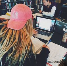 Study with the good hair | Alpha Phi | Made by University Tees | www.universitytee...