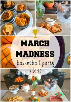 March Madness Basketball Party tablescape