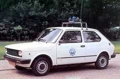 Fiat 127 Police Vehicle Military Car, Military Vehicles, Police Vehicles, Carl Benz, Fiat 126, Car Badges, Bicycle Bag, Emergency Vehicles, Commercial Vehicle