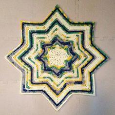 DK 8 Point Round Ripple Baby Blanket Pattern by Samantha Attanasio