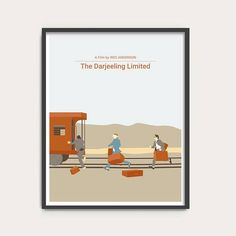 NEW The Darjeeling Limited Wes Anderson movie poster