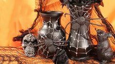 Mark Montano: Halloween Spider Web Vase (and a rubber rat)