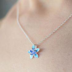 Floral Boho Pendant Pretty Flower Necklace Nature Jewelry Flowerbomb Necklace Floral Jewellery Sterling Silver Silver Flower Pendant