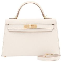 9b8dc5fd9132 Hermes Craie Kelly 20cm Mini Off White Limited Edition VIP Shoulder Bag