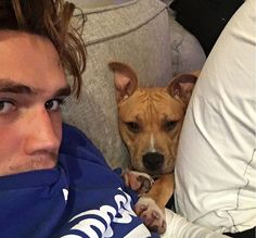 KJ + His dog= Perfection