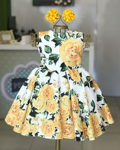 2019 Infant Toddler Kids Girl Flower Casual Party Birthday Dresses One-Piece Costumes, Ropa de niña, Baby Dress Design, Baby Girl Dress Patterns, Little Girl Dresses, Ladies Dress Design, Girls Dresses, Flower Girl Dresses, Fashion Kids, Baby Frocks Designs, Girl Sleeves