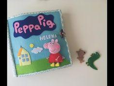Second quiet book for my daughter (Peppa pig version) Pig Crafts, Felt Crafts, Diy Presents, Diy Gifts, Fabric Dolls, Paper Dolls, Peppa Pig Books, Familia Peppa Pig, Peppa Pig House