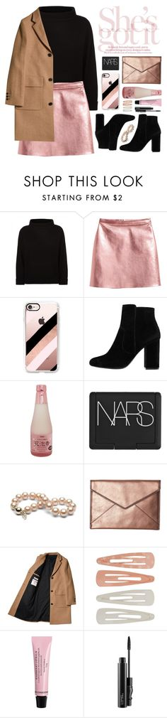 """""""She's Got It"""" by cara-mia-mon-cher on Polyvore featuring Jaeger, Casetify, MANGO, NARS Cosmetics, Rebecca Minkoff, Forever 21, H&M and MAC Cosmetics"""