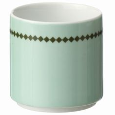 Featuring a sleek design and minimilast pattern, this stylish cup makes a lovely complement to your breakfast or brunch tablescape.
