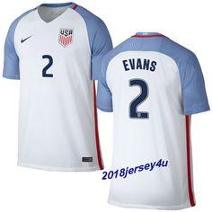 Brad Evans 2 2016 COPA America Centenario USA Men's Home Soccer Jersey
